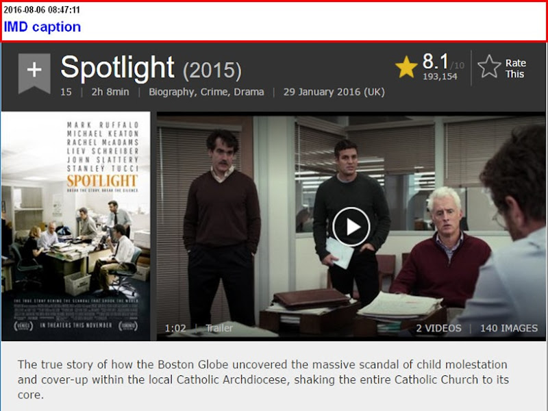spotlight caption