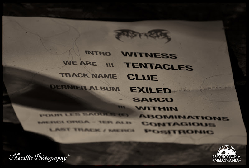 Set-list Pestifer @Metal Corporation Fest 2015 - METAL, MCP Apache, Fontaine-L'Évêque, Belgique 29/08/2015