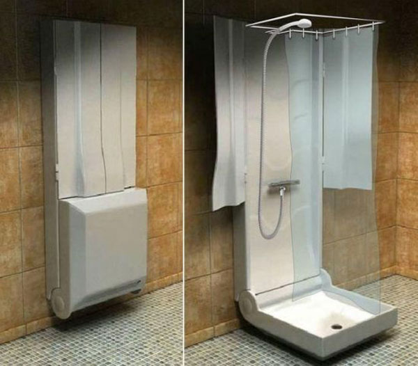trendy folding shower for small bathrooms 2016