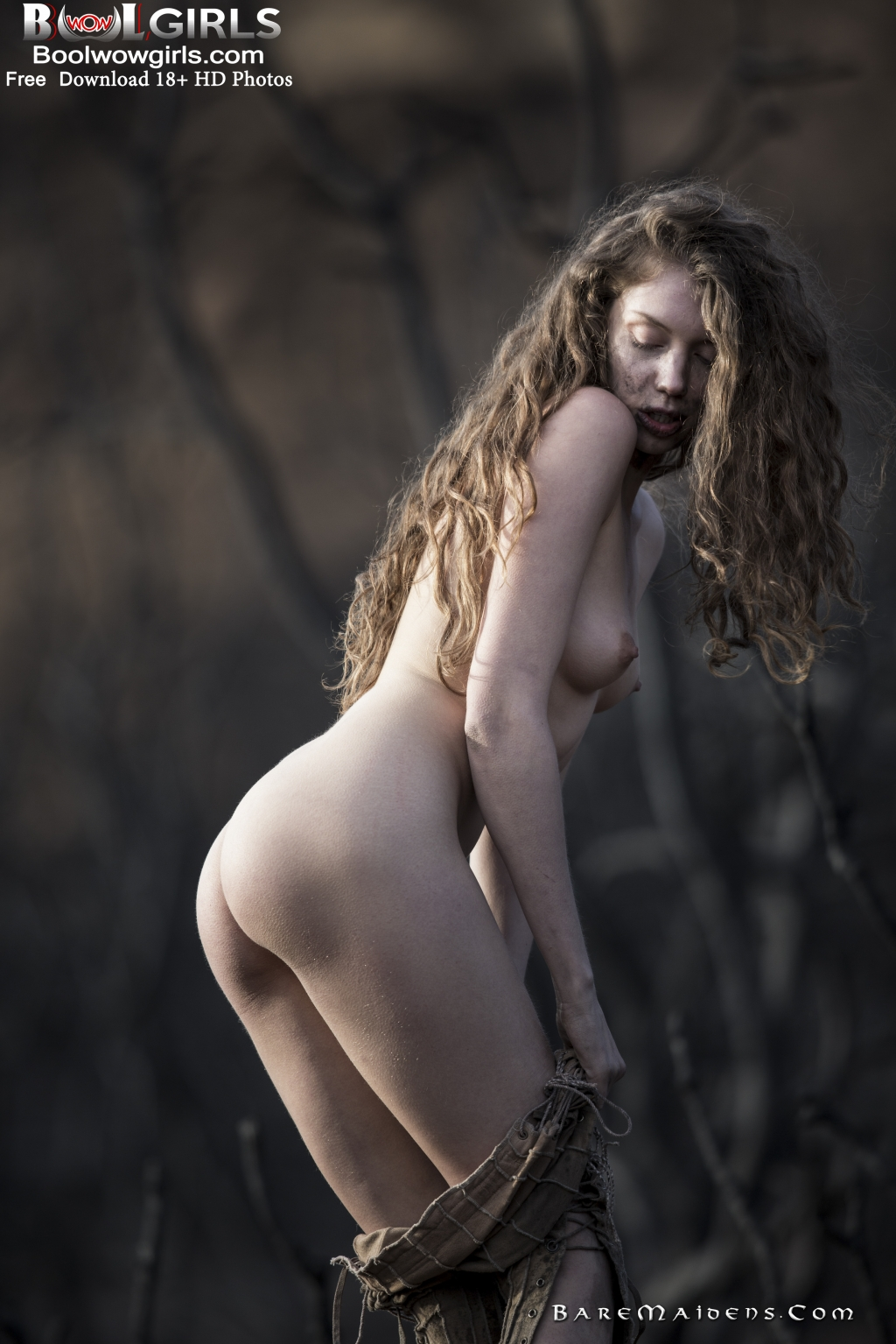Such bare maidens nude think, that