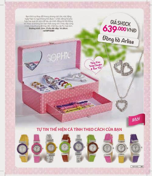 Đồng hồ thời trang Sophie Arlise - WPU389