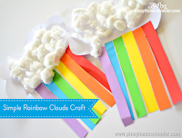 The Rainbow Clouds Craft