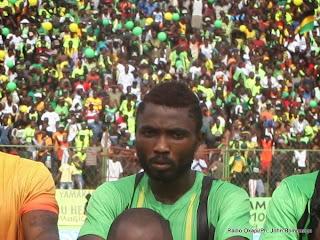 Le joueur de l'As V.Club Taggy Agiti Etekiama de l'As V.Club au stade Tata Raphaël. Radio Okapi/Ph. John Bompengo.