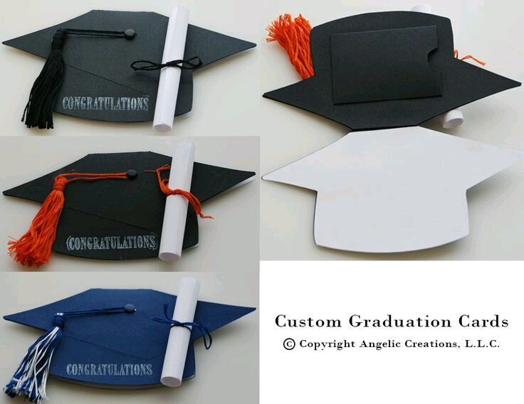 Tip of the Hat Red \ Black Graduation Invitation Red black - resume holder