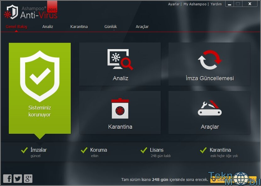 Ashampoo Anti-Virus 2016 v1.3.0 Türkçe Full