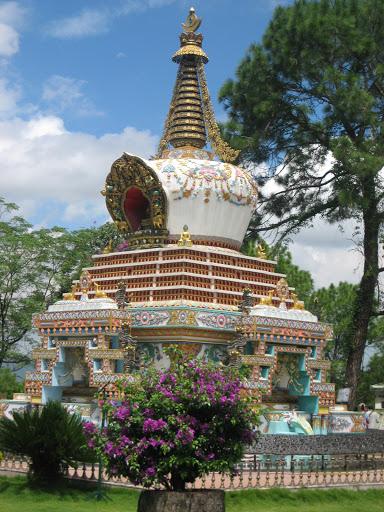 Geshe Lama Konchog's stupa, Kopan Monastery, Nepal.