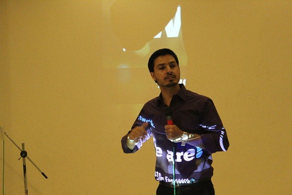 Blogger Mohammad Mustafa at  The Mentor Club Conference