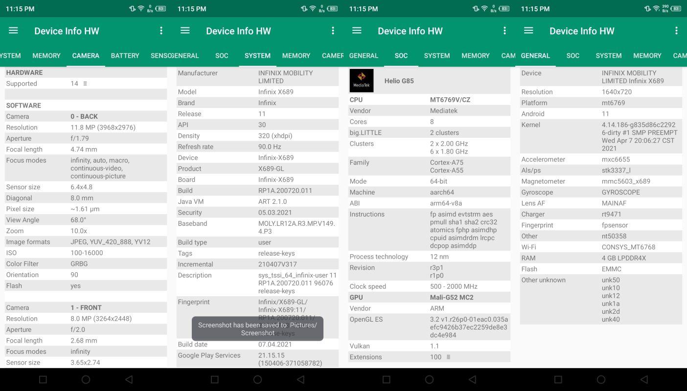 Device Info HW Infinix Hot 10S