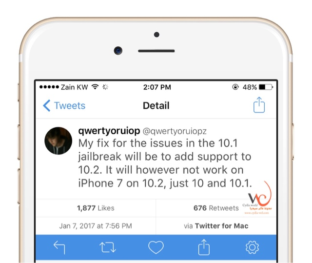 Jailbreak ios 10.2 coming soon