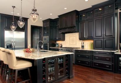 Best Kitchen Interior Design Ideas Dark Wood Natural Kitchen Cabinet