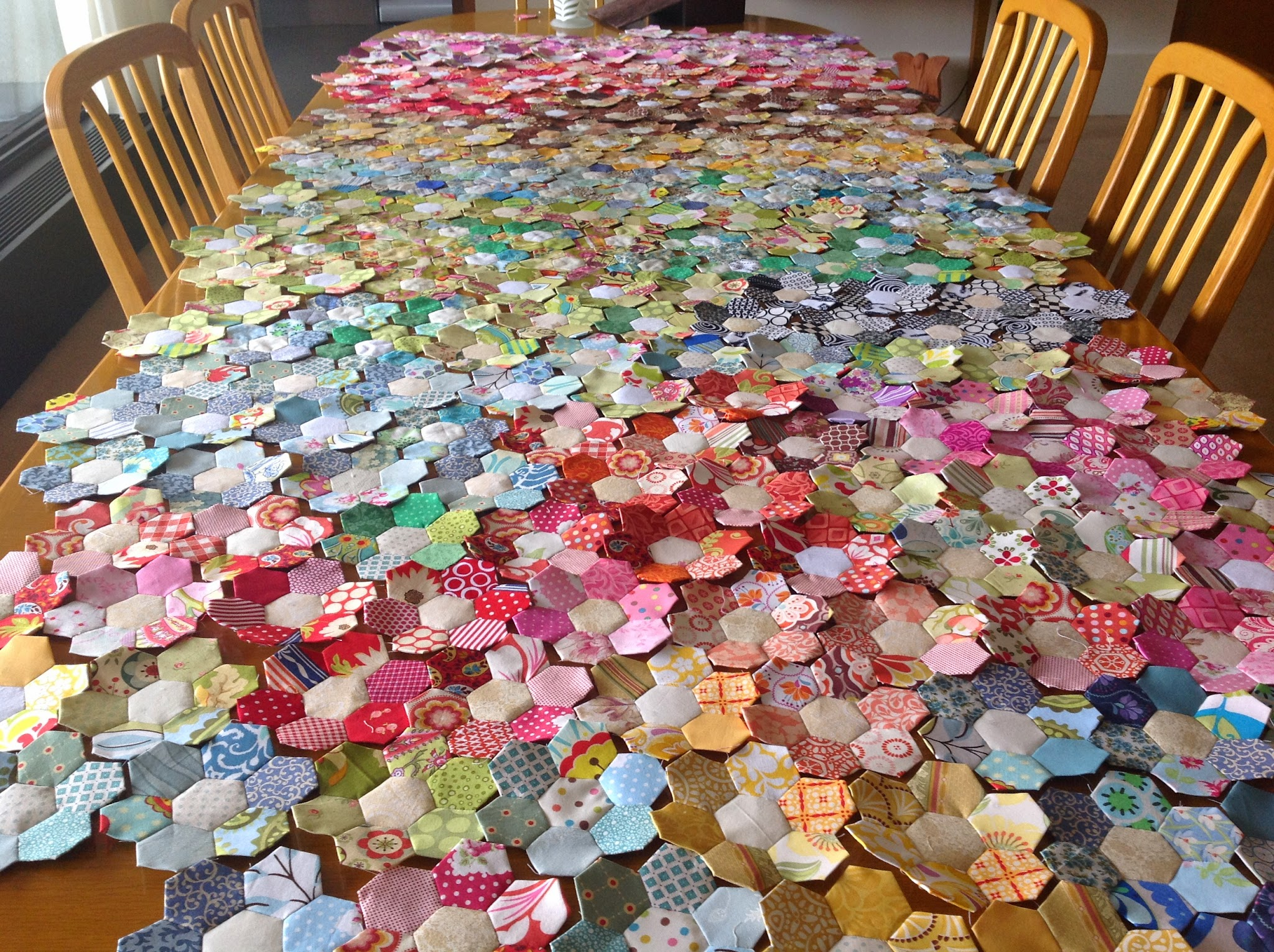 1000 Images About Patchwork Hexagon On Pinterest