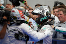 Nico Rosberg congratulates Lewis Hamilton