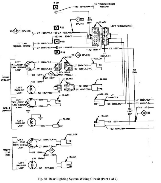 taillight wiring diagram - dodgeforum.com 1984 dodge d150 wiring diagram light #10