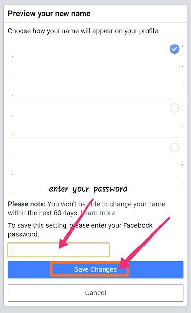 Facebook par apna nam kaise chupaye