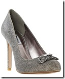 Dune jewelled glitter stiletto court shoe