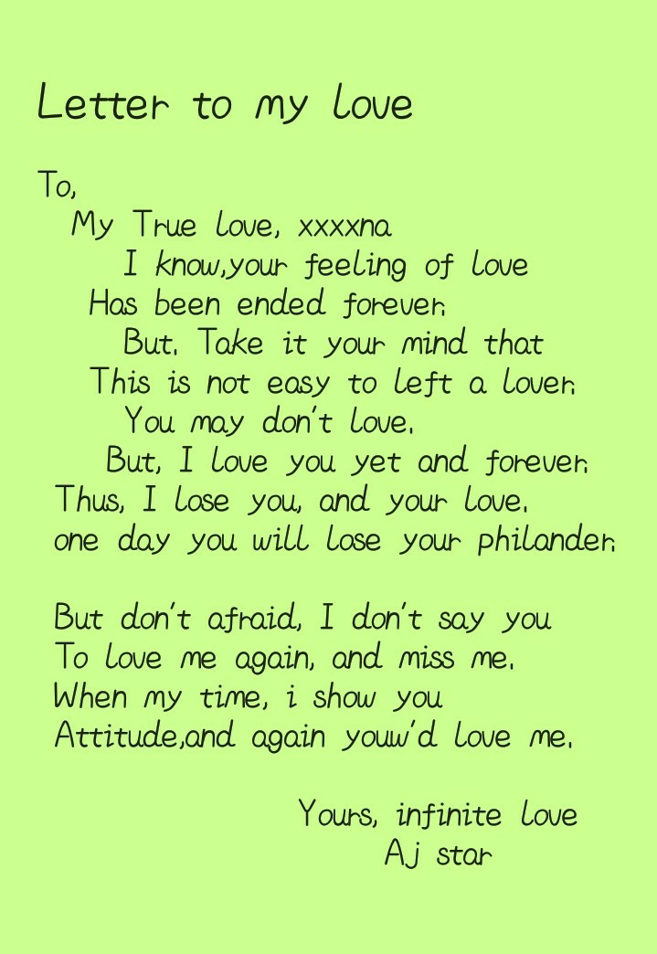 A Letter To My Love from lh3.googleusercontent.com