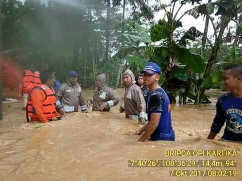 Banjir melanda wilayah Pangandaran