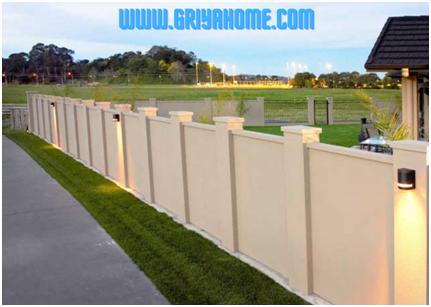Membangun Tembok Pagar Rumah