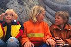 Dans la cour d'une école danoise au moment de la récréation