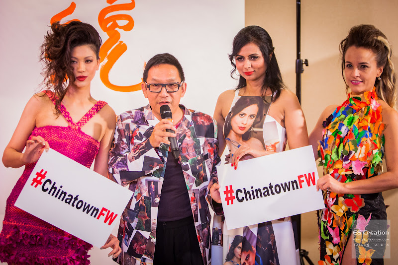 Tuan Tran with models wearing his designs, promoting CIFW. Photo by Simon Fu of ES Creation.