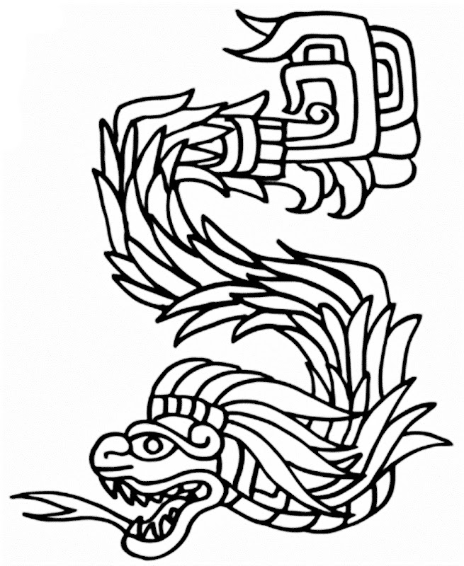 images The Feathered Serpent coloring pages