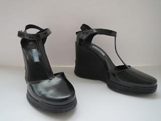 Prada Patent Leather Wedges