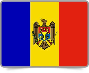 Moldovan framed flag icons with box shadow