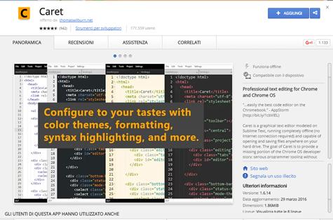 caret-chrome-webstore