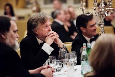 Da sinistra: il vice presidente del Consiglio Nazionale Slovacco Miroslav Číž, il presidente della Commissione parlamentare Media e cultura Dušan Jarjabek, l'Ambasciatore Roberto Martini