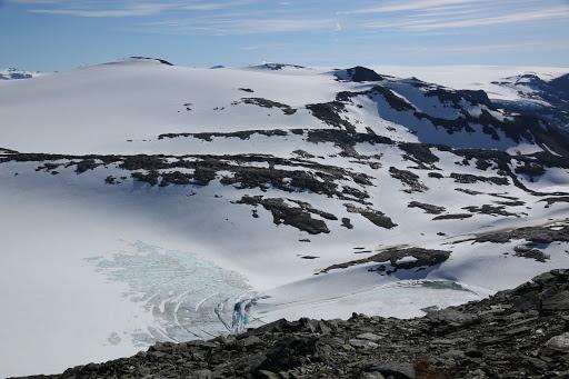 Jazero v ľadovci Svartisen