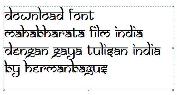 Download Font Mahabharata Film India Dengan Gaya Tulisan India Hermanbagus