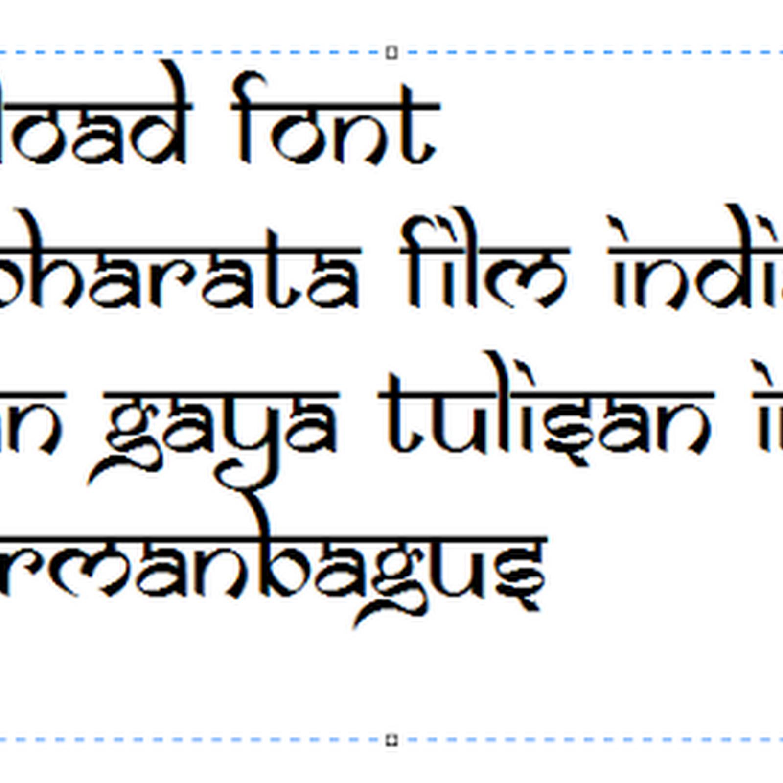 Download font mahabharata film india dengan gaya tulisan india