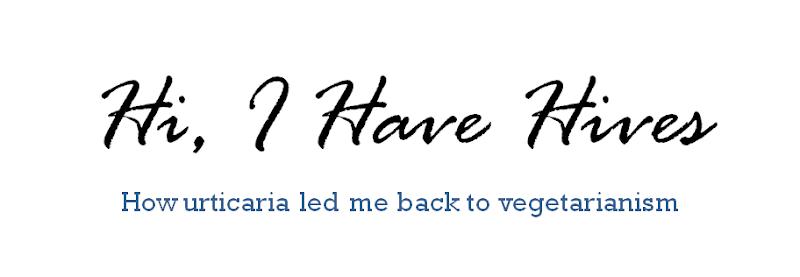 My urticaria blog: Hi, I Have Hives