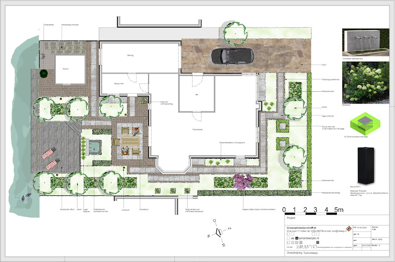 Tuinontwerp voorbeelden tuinontwerp beplantingsplan for Tuinontwerp tussenwoning