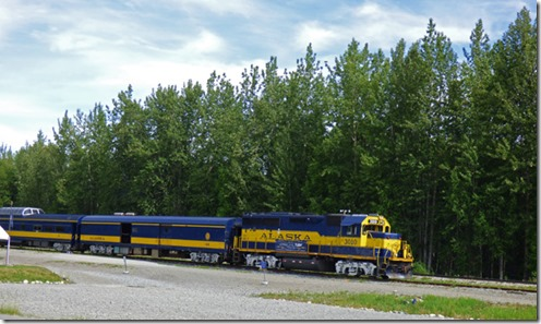 Alaska Railway in Talkeetna