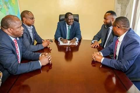 ODM leader Raila Odinga meets coastal governors in Mombasa ahead of BBI really. PHOTO | BMS