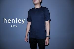 Baju Kaos Polos Henley Lengan Pendek
