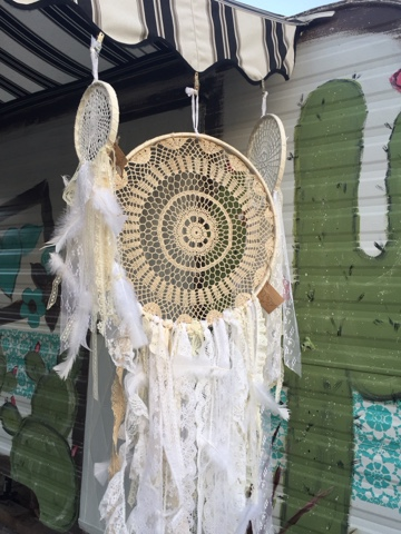 vintage doily and lace dream catchers
