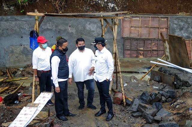 Walikota Bogor Tinjau Dua Proyek Infrastruktur di Wilayah Perbatasan