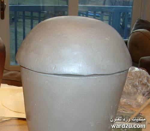 طريقة عمل فازة خزفية بتقنية التشكيل بالشرائح