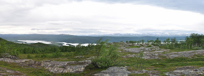 panoramic view from the Drottningleden trail