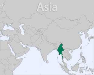 Myanmar (Burma) location map