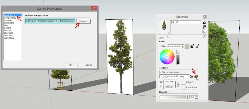 การกำหนดค่า Material ของต้นไม้แบบ 2D ให้มีความโปร่งใส Vraytree06