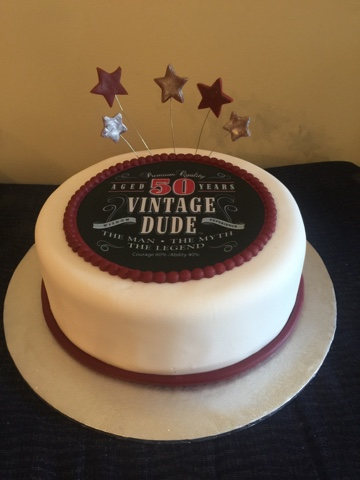 Vintage Dude 50th Birthday Manly Cake For A Man Turning 50 This Is Rum