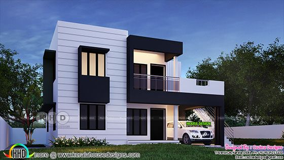 Beautiful flat roof Kerala home design 1800 sq-ft