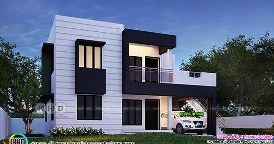 Beautiful Flat Roof Kerala Home Design 1800 Sq Ft Kerala