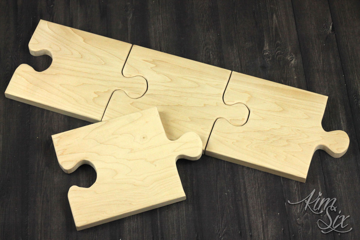 Puzzle piece cutting and serving board