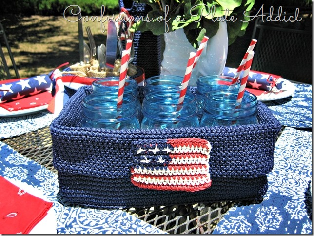 CONFESSIONS OF A PLATE ADDICT Summery Tablescape in Red, White and Blue