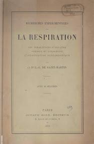 Cover of Louis Claude De Saint Martin's Book La Respiration (1893,in French)