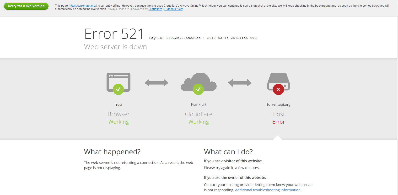 RARBG indexer down? : sonarr